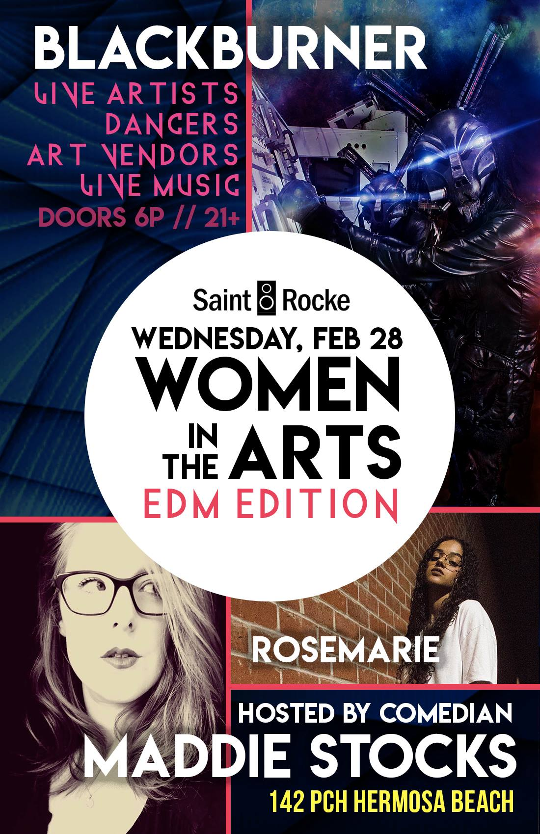 Women In the Arts feat. Blackburner at Saint Rocke