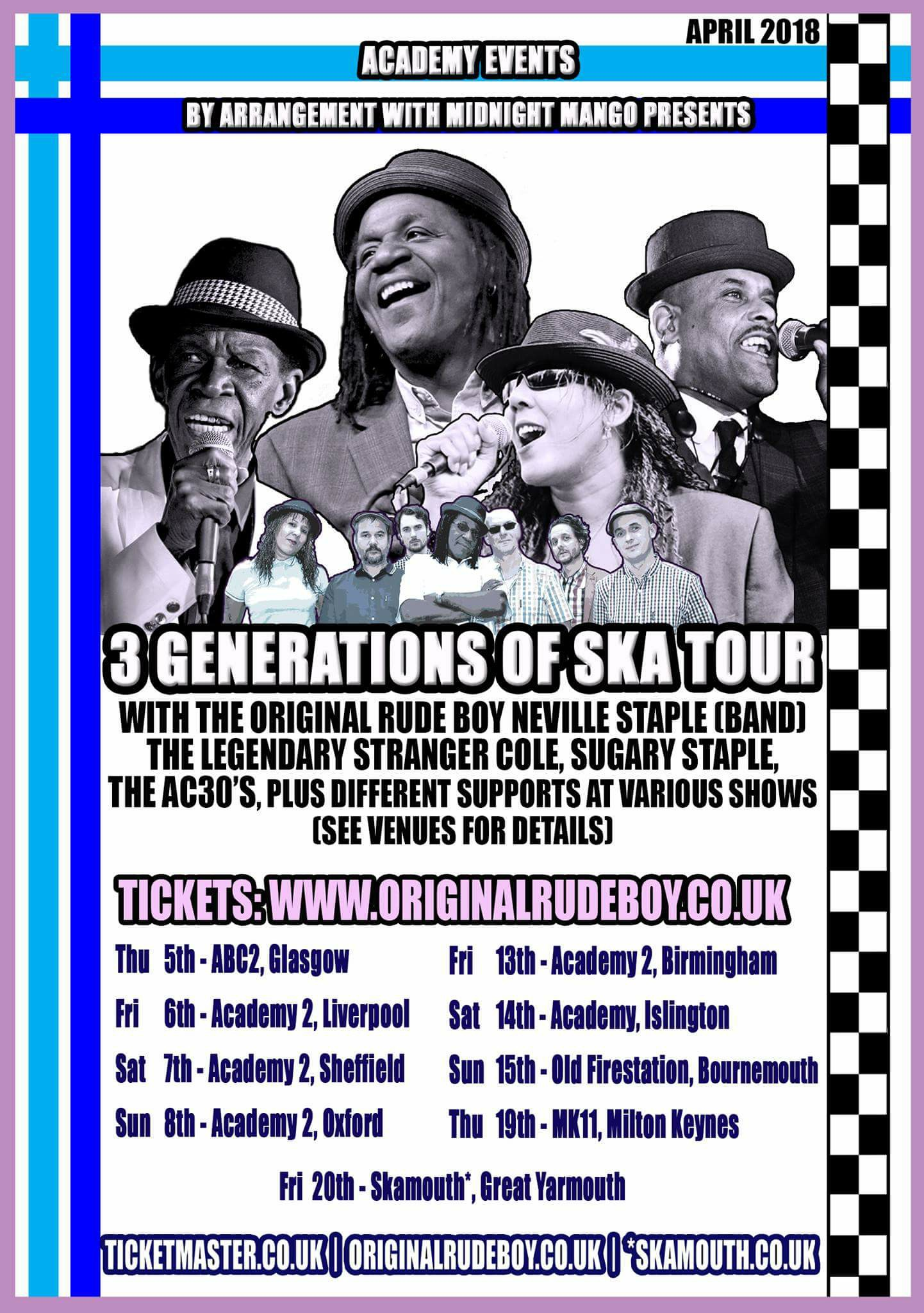 Neville Staple - 3 Generations of Ska Tour
