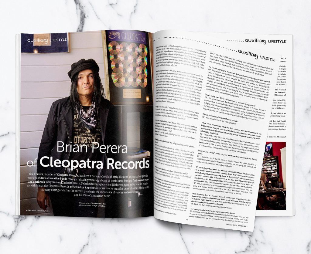 Behind the Scenes interview with Brian Perera of Cleopatra Records (Interview by Elizabeth Rhodes/Auxiliary Magazine)