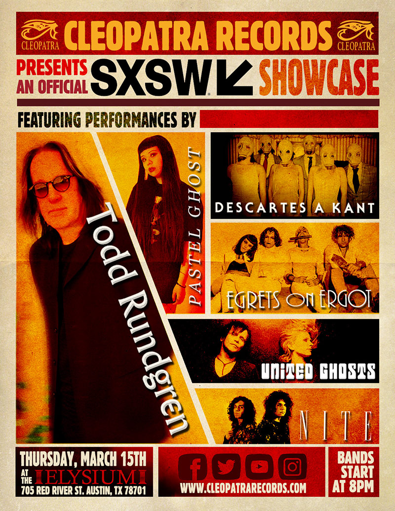 Rock Legend Todd Rundgren Headlines Cleopatra Records First Ever SXSW Showcase