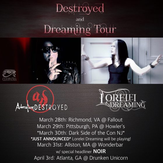 Adoration Destroyed playing Darkside of the Con festival/ on Tour!