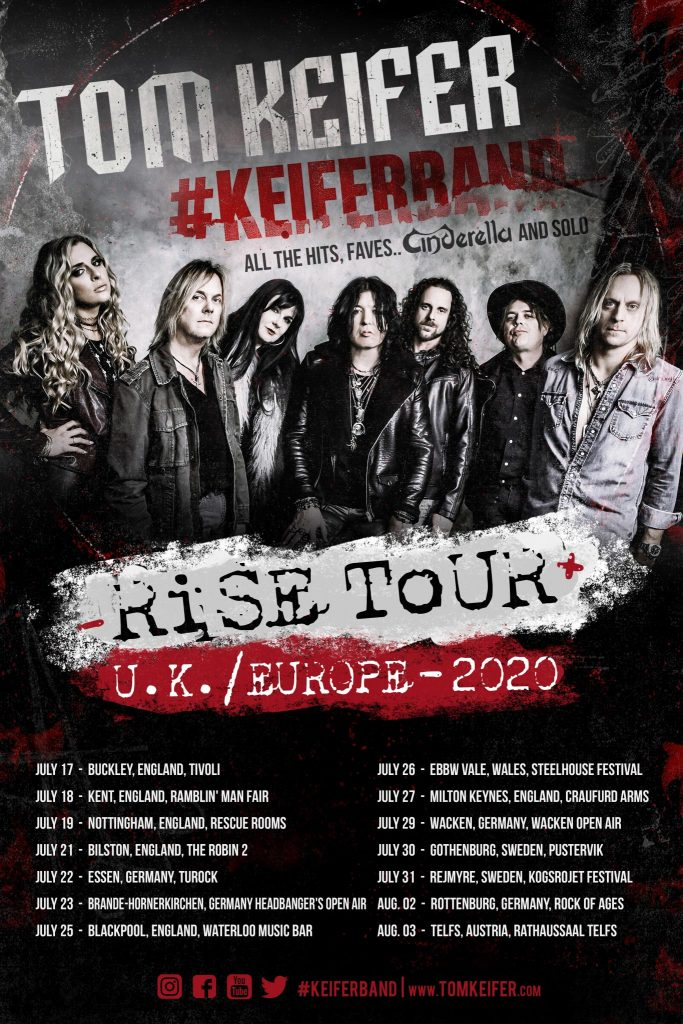 Tom Keifer - Rise Tour - UK/Europe 2020