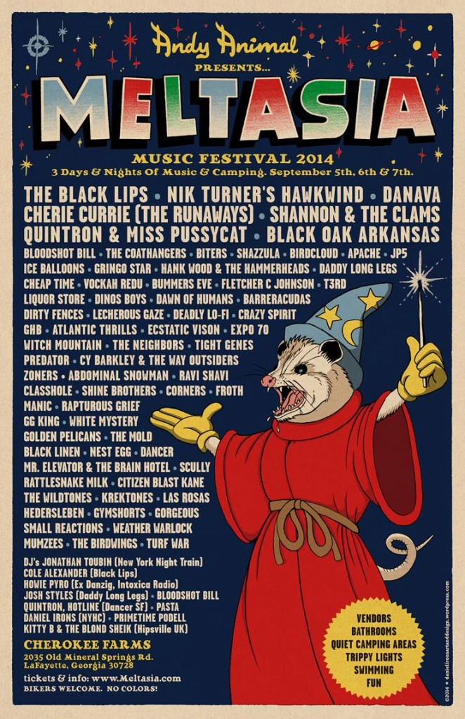 Meltasia Festival Announces 2014 Lineup Including Nik Turner's Hawkwind & More!