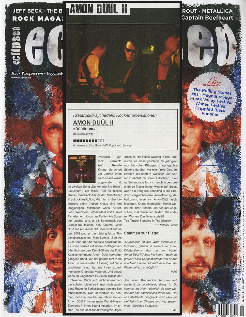 Review - Amon Düül II - Düülirium - Eclipsed.de (8/10)