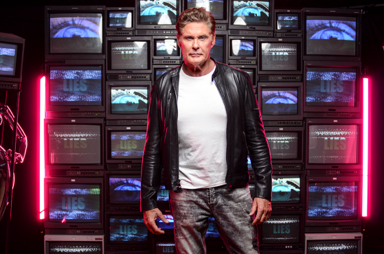 "David Hasselhoff Asks The World To ""Open Your Eyes!"" In A Video For His New Single and Album!"