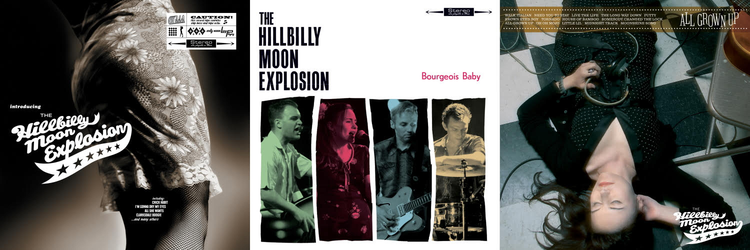 Swiss Rockabilly Kings THE HILLBILLY MOON EXPLOSION Invade The U.S. With Reissues Of Their First 3 Albums!