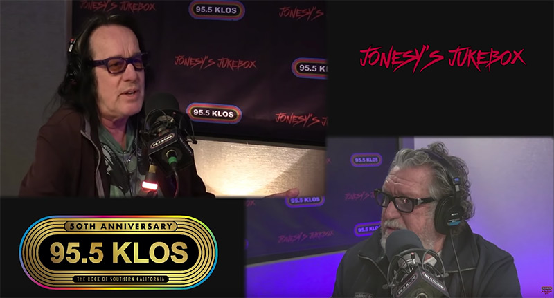 Instrumentalist and Singer, Todd Rungren drops by the Jonesy Jukebox to talk technology and music!