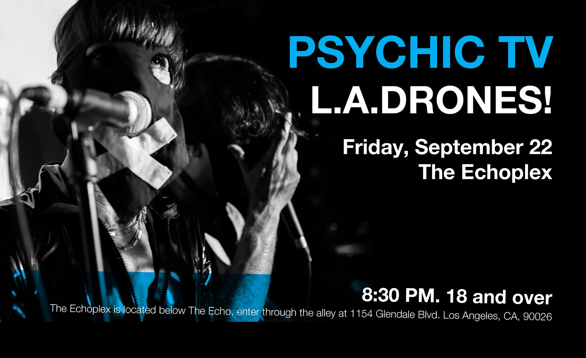 L.A. Drones to Perform w/ Psychic TV @ The Echoplex Sep. 22nd!
