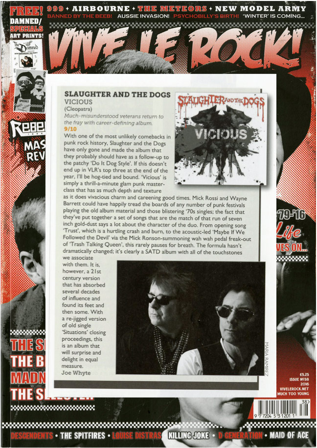 Slaughter and the Dogs - Vicious (Vive Le Rock Review)
