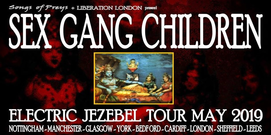 Sex Gang Children Announce 2019 UK Tour