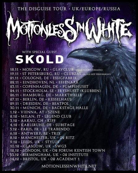 Skold Announce Tour UK Tour Dates