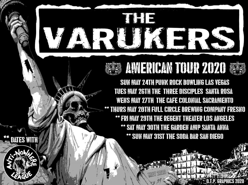 The Varukers - American Tour 2020