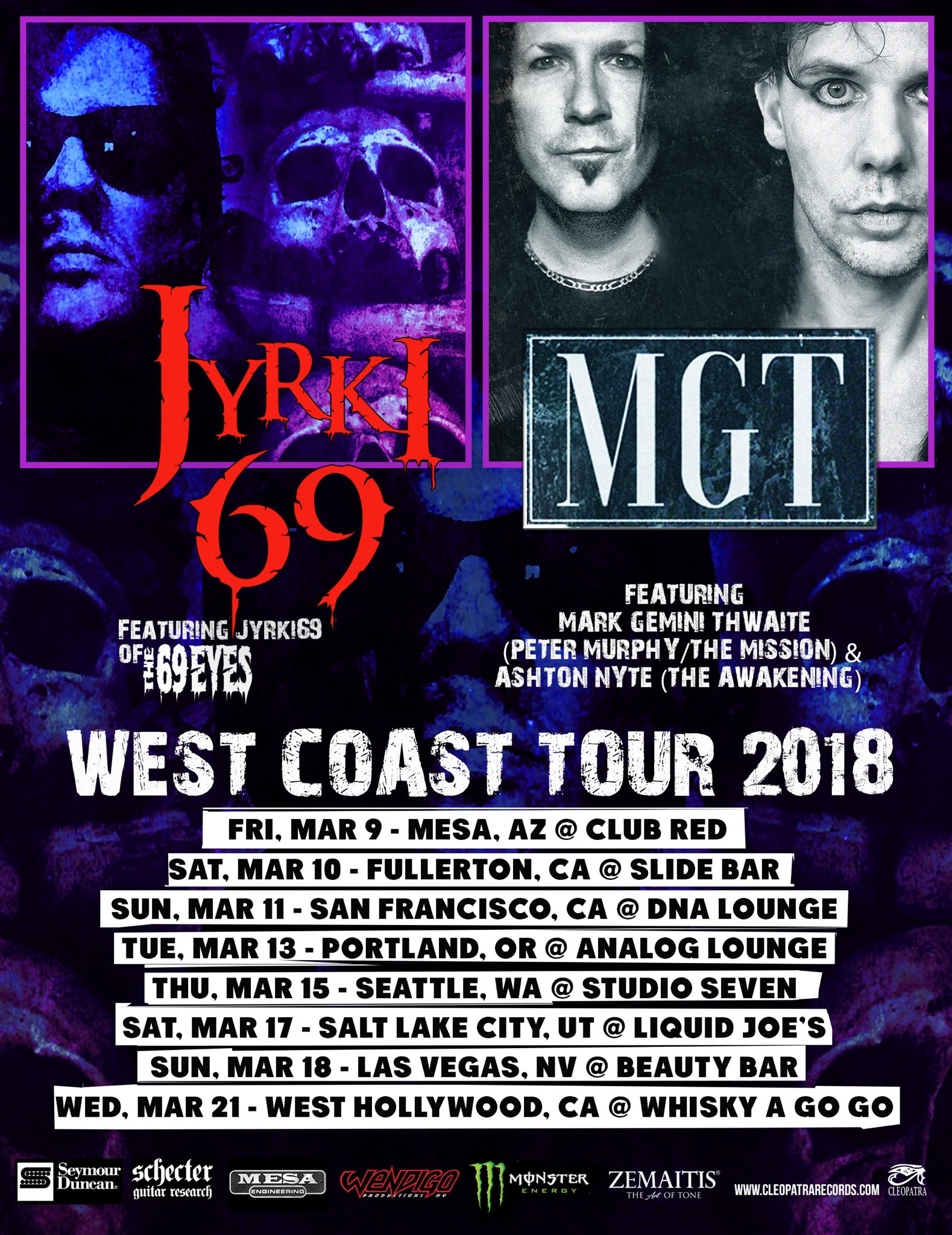 Jryki 69 & MGT - Tour Dates