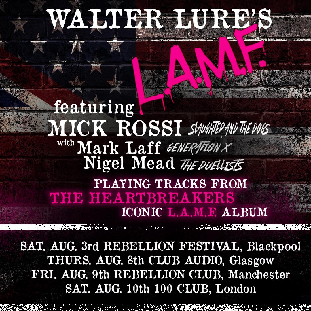 Walter Lure's L.A.M.F. - 2019 Tour Dates