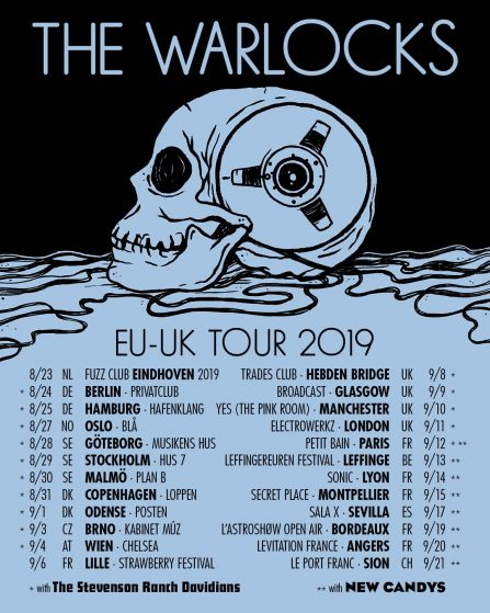 The Warlocks Mean Machine Music + Radical Mega Hits Tour with specials guests The Stevenson Ranch Davidians & New Candys