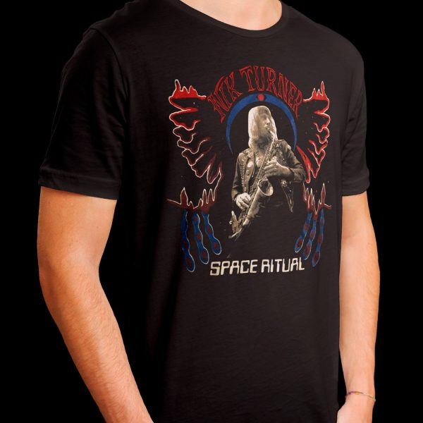 Nik Turner - Space Ritual Psychedelic Warlord Sax (Shirt)