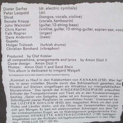 Amon Düül II - Phallus Dei (LIMITED COLORED LP)