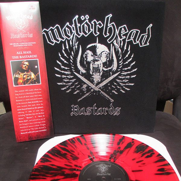 Motorhead - Bastards (Limited Edition Velvet Jacket w/ Spatter Colored Red LP)