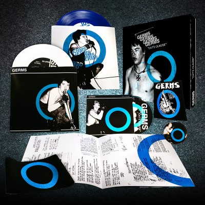 """Germs - Cat's Clause (2 - 7"""" EPs, CD, Badge, Sticker, Armband & Booklet)"""