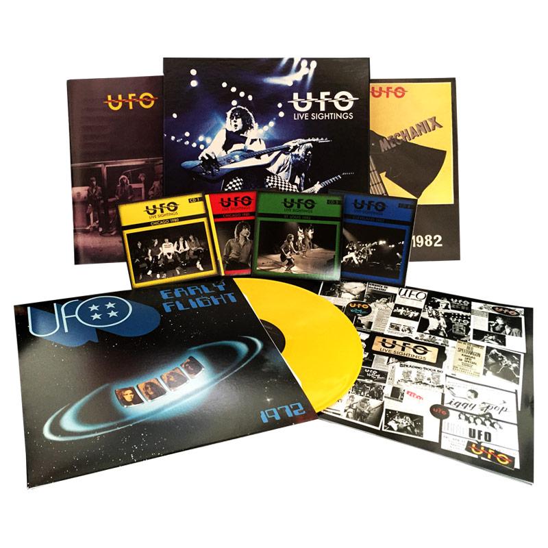 UFO - Live Sightings (Limited Edition Box Set w/ 4 CDs, Booklet, Tour Programs & Color LP)