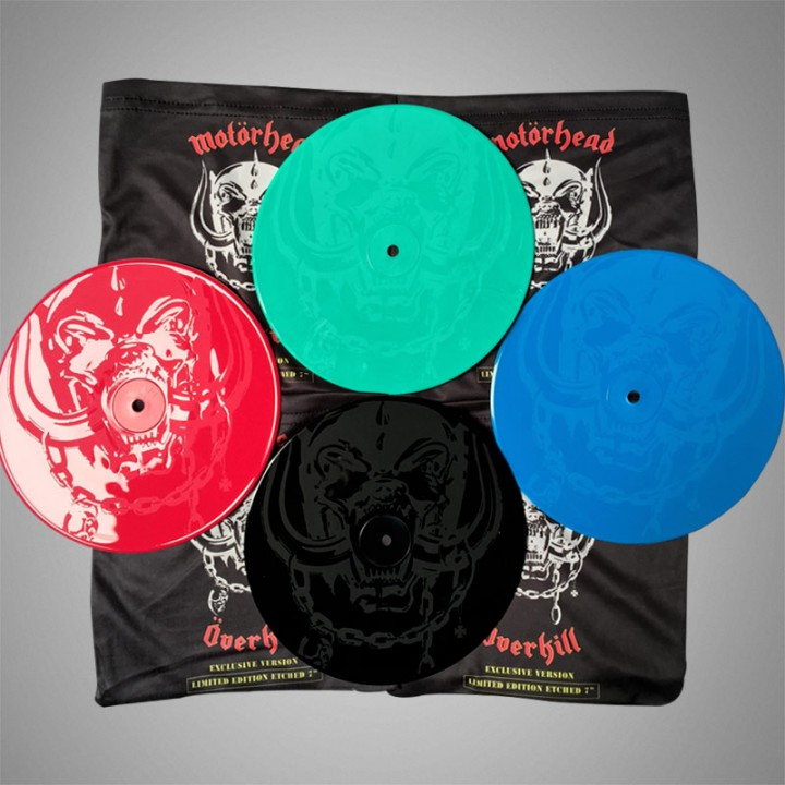 "Motorhead - Overkill (Limited Edition on Colored Etched 7"" + Bag)"