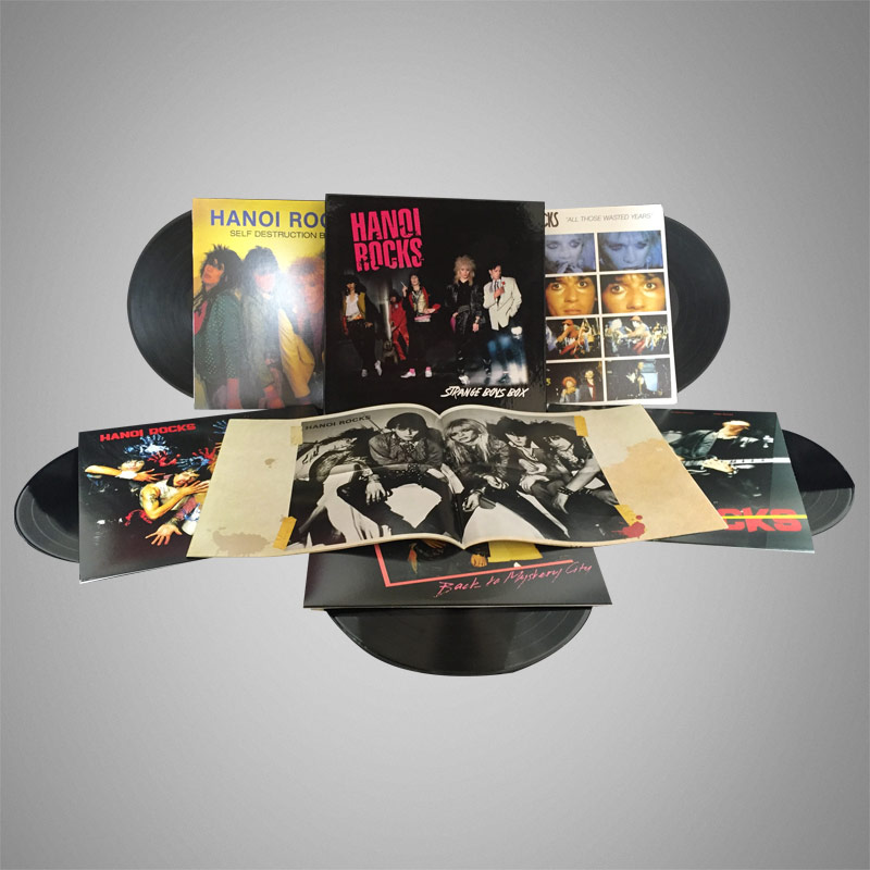 ハノイ・ロックスの初期アルバム5タイトルを収めたボックスセット『strange Boys Box』がcdとlpで発売