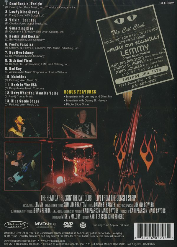 The Head Cat - Rockin' The Cat Club: Live From The Sunset Strip (DVD)