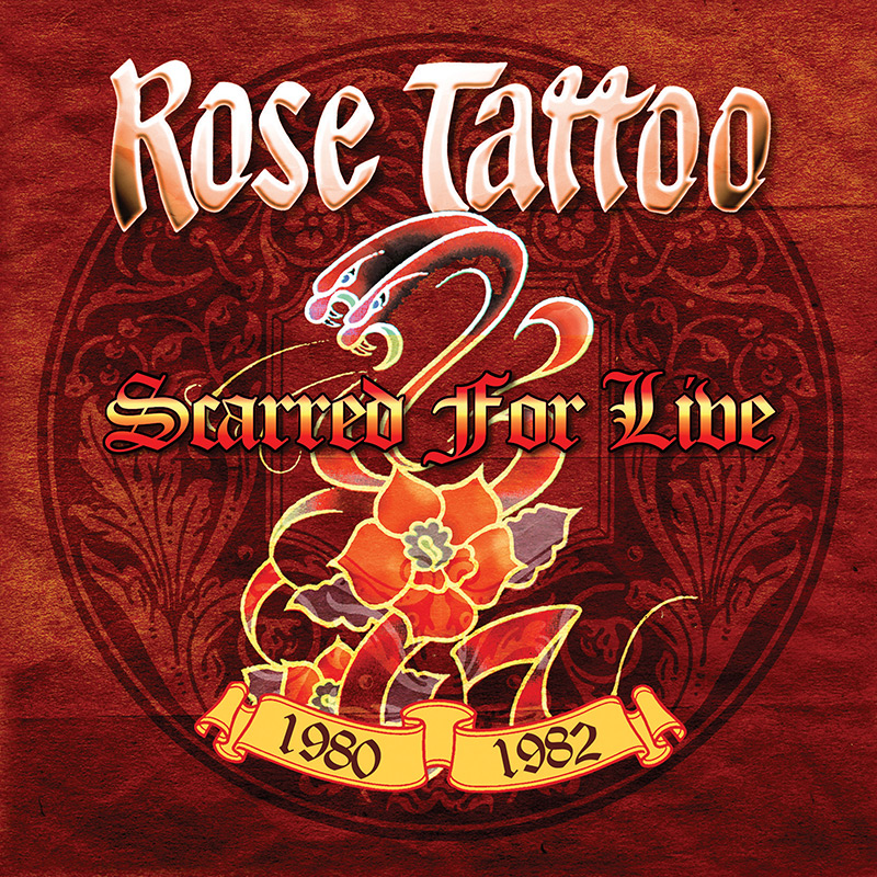 Rose Tattoo Scarred For Live 1980 1982 Limited Edition White Lp