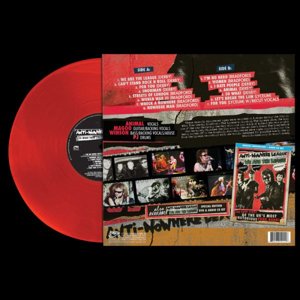 Anti-Nowhere League - So What Tour 1982 Live! (Limited Edition Red Vinyl)