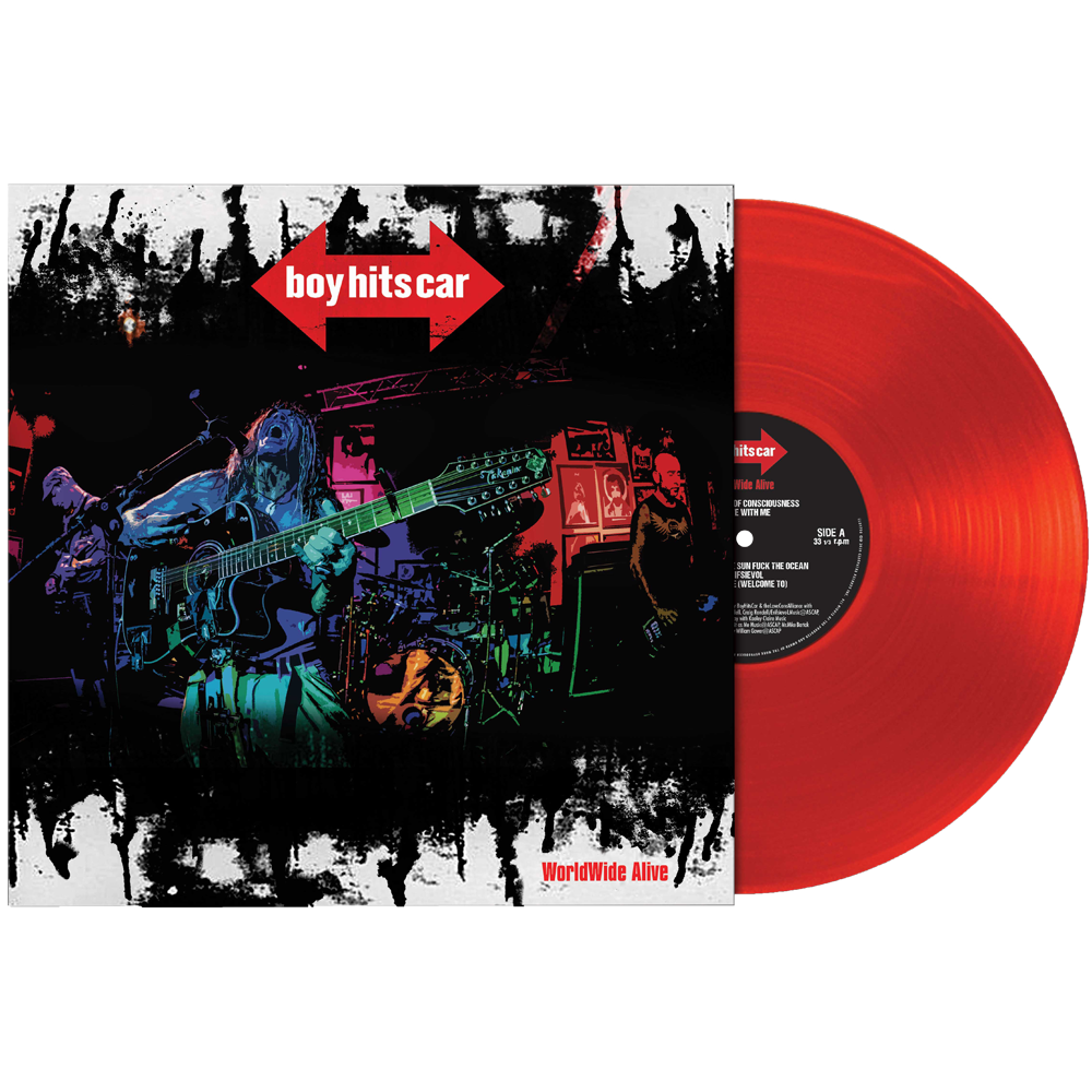 Boy Hits Car - WorldWide Alive! (Limited Edition Red Vinyl)