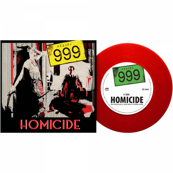 "999 - Homicide (Limited Edition Red 7"" Vinyl)"