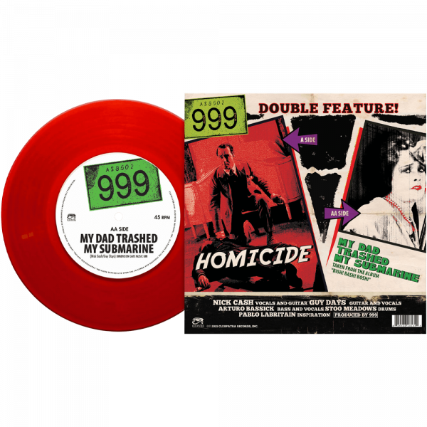 """999 - Homicide (Limited Edition Red 7"""" Vinyl)"""