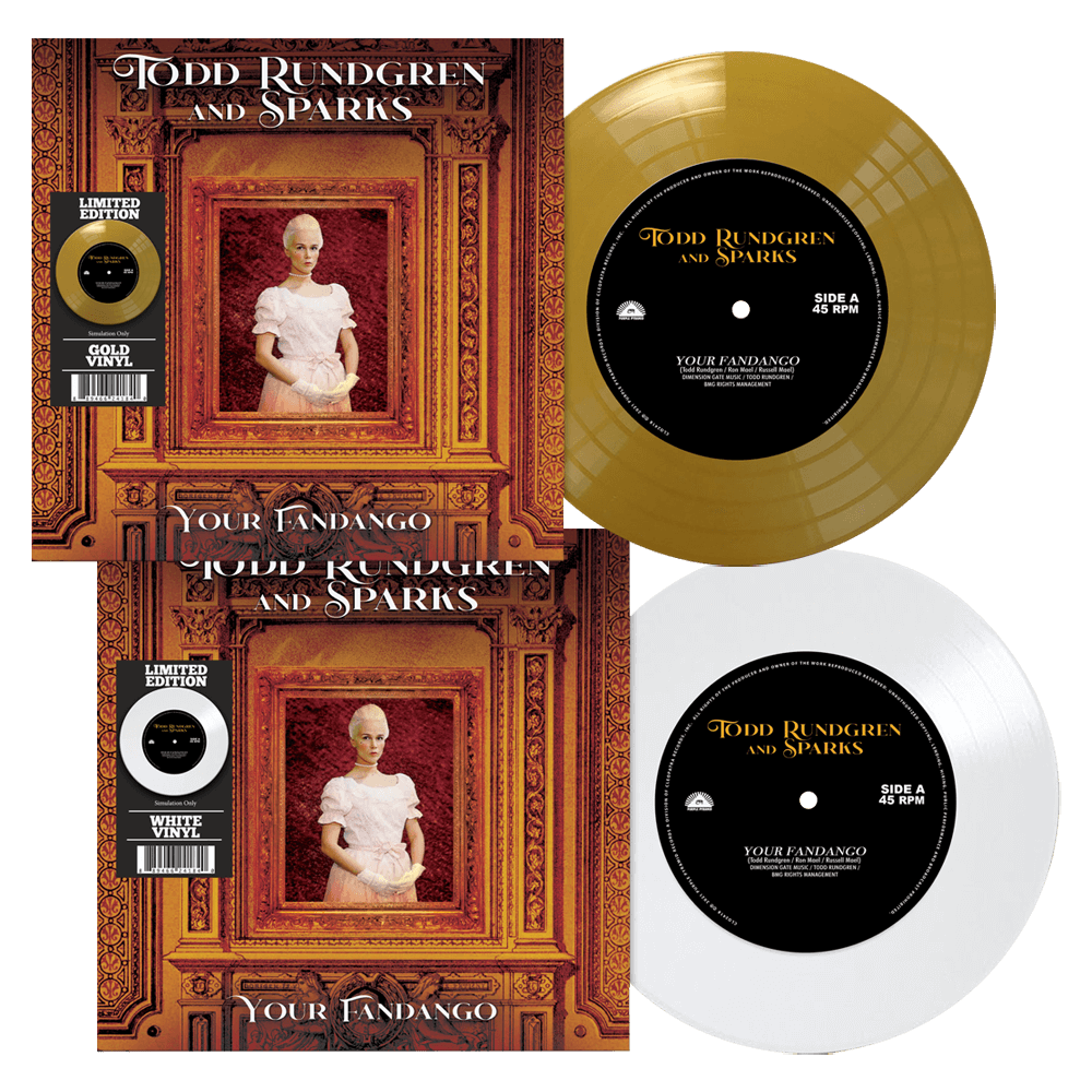Todd Rundgren & Sparks – Your Fandango (Limited Edition Colored 7″ Vinyl) Pre-Order – Cleopatra Records Store