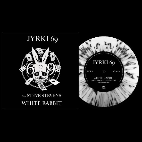 """Jyrki 69 - White Rabbit Feat. Steve Stevens (Limited Edition Splatter 7"""" Vinyl)"""