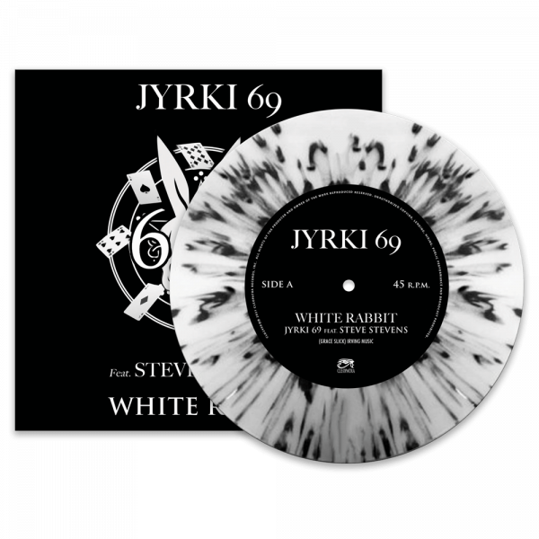 "Jyrki 69 - White Rabbit Feat. Steve Stevens (Limited Edition Splatter 7"" Vinyl)"