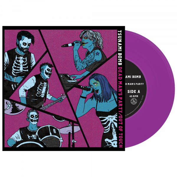 """Tsunami Bomb - Dead Man's Party/Out of Touch (Limited Edition Colored 7"""" Vinyl)"""