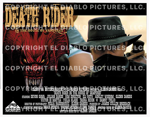 """Death Rider - In The House of Vampires - 6x Lobby Cards (11"""" x 14"""")"""