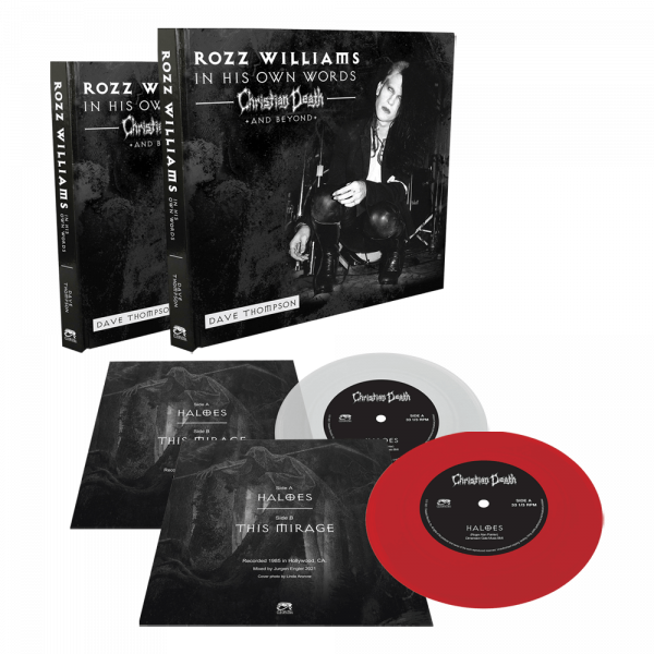 """Rozz Williams - In His Own Words - Christian Death & Beyond (Book + 7"""" Colored Vinyl)"""
